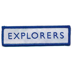 Explorer Section Logo Woven Badge