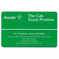 Cub Promise Card - Christians, Jews and Sikhs