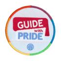 Pride woven badge