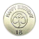 Happy 18th Birthday Metal Badge