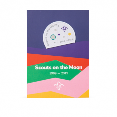 Scouts on the Moon Badge and Commemorative Card