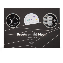Scouts on the Moon Badge Set and Commemorative Card - 3Pk