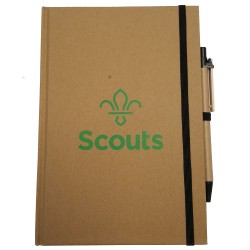 Eco Scouts A5 Fleur de Lis Notebook and Pen