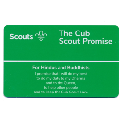 Cub Promise Card - Hindus and Buddhists