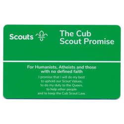 Cub Promise Card - Humanists, Atheists and Non-Religious