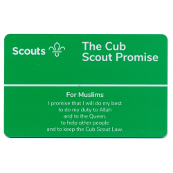 Cub Promise Card - Muslims