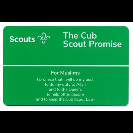 Cub Promise Card - Muslims