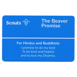 Beaver Scouts Promise Card - Hindus and Buddhists