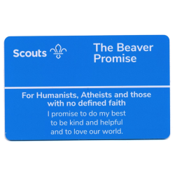 Beaver Scouts Promise Card - Humanists and Atheists