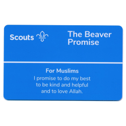 Beaver Scouts Promise Card - Muslims