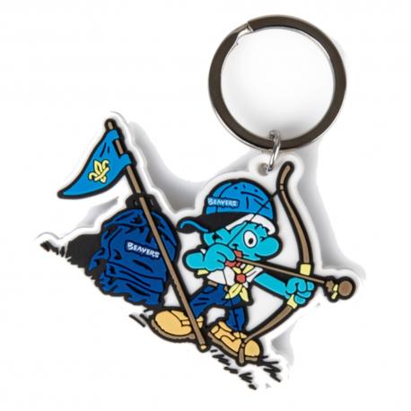 Smurf Beaver Scout Key Ring