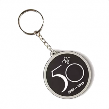 Scouts on the Moon PVC Keyring - 50 Years