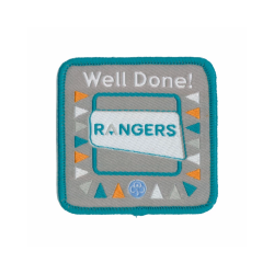 The Rangers Well Done Woven Badge