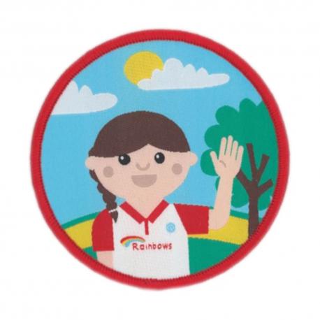 Olivia woven badge
