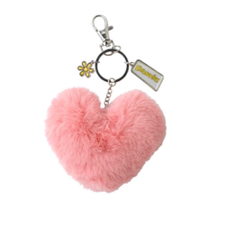 Brownies heart pom-pom clip