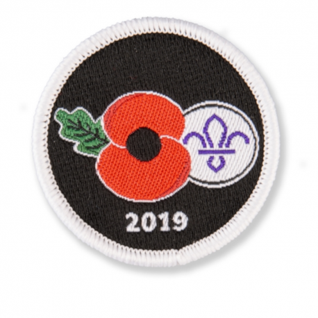 Poppy & Scouting Fleur de Lis Uniform Badge 2019