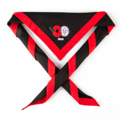 Remembrance Day Poppy & Scouting Fleur de Lis Scarf / Necker