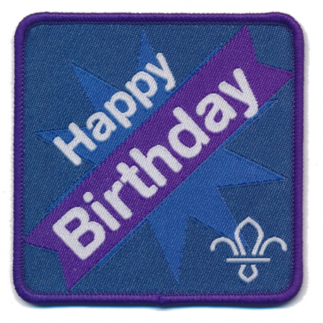 Fleur de Lis Happy Birthday Fun Badge