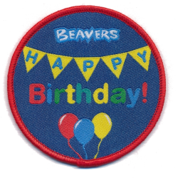 Beavers Happy Birthday Fun Badge