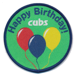 Cubs Happy Birthday Fun Badge