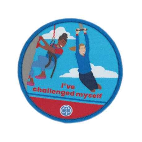Guides I've challenged myself woven badge
