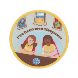 Brownies I've been on a sleepover woven badge