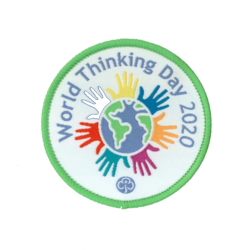 World Thinking Day 2020 woven badge
