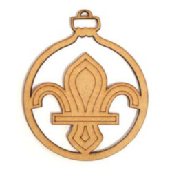 New - Fleur de Lis Decoration - 8 Pack