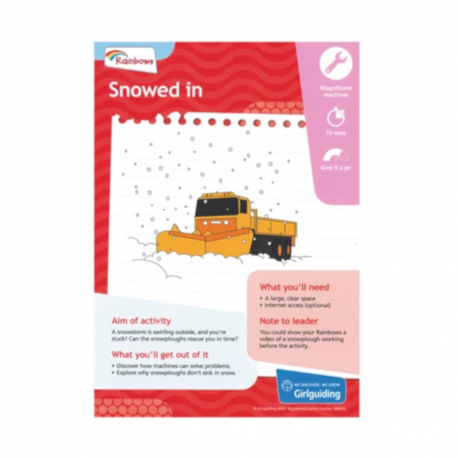Unit meeting activity cards 6 - Rainbows 9 (Snowed In)