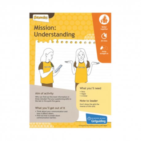 Unit meeting activity cards 6 - Brownies (Mission: Understanding)