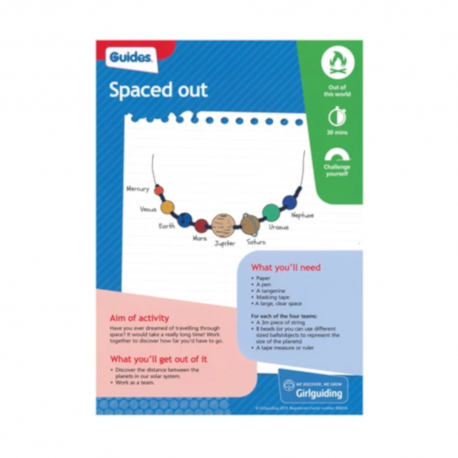 Unit meeting activity cards 6 - Guides (Spaced Out)