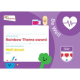 Theme Award – Rainbows Be Well certificate
