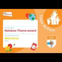 Theme Award – Rainbows Take Action certificate