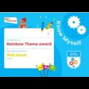Theme Award – Rainbows Know Myself certificate