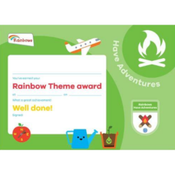 Theme Award – Rainbows Have Adventures certificate