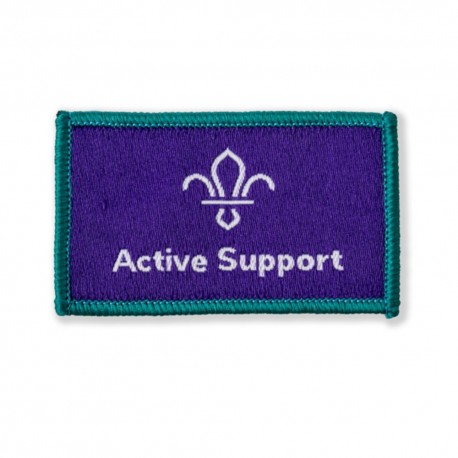 Scouts Active Support Woven Badge