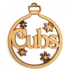 Decorate your own Cubs Christmas Bauble