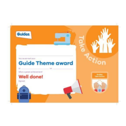 Theme Award – Guides Take Action certificate
