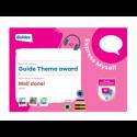 Theme Award – Guides Express Myself certificate