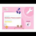 Theme Award – Rainbows Skills For My Future certificate
