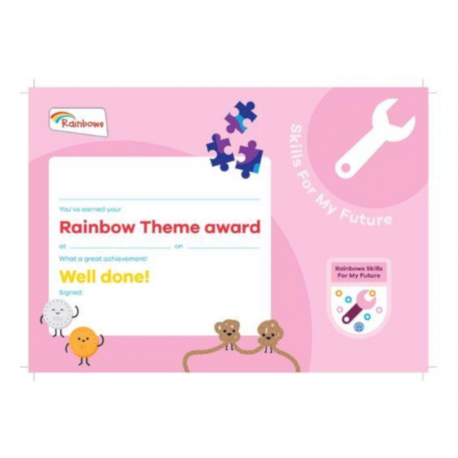 Theme Award – Rainbows Skills For My Future certificate
