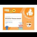 Theme Award – Brownies Take Action certificate