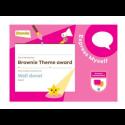 Theme Award – Brownies Express Myself certificate