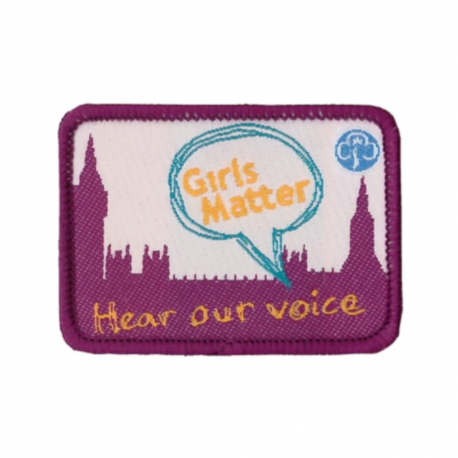 Girls Matter woven badge