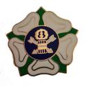 Sheffield Rose Metal Badge