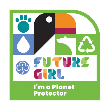 Future Girl I'm a Planet Protector woven badge