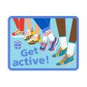 Get active woven badge