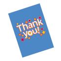 """Guiding """"Thank you"""" Cards - blue (6pk)"""