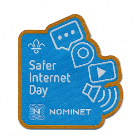 Safer Internet Day Woven Fun Badge - Available Son