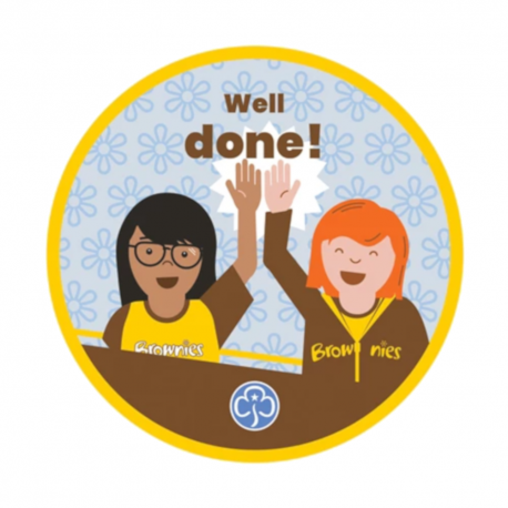 Well done Brownies woven badge 2021